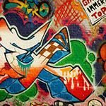 Leuchtkasten Graffiti